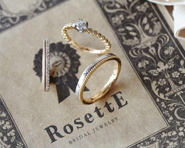 人気ブライダルリング「RosettE~ロゼット~」