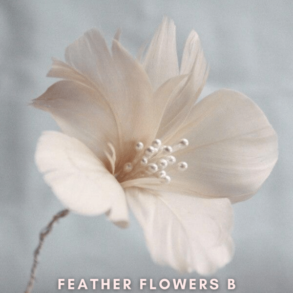 HOW TO MAKE A FIVE PETAL FEATHER FLOWERS WITHOUT GLUE