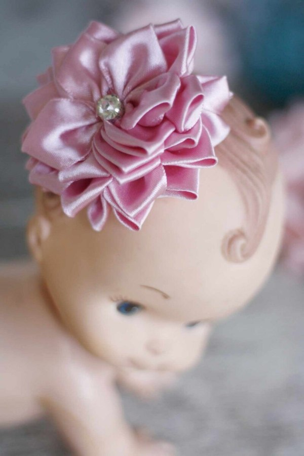 Sweet Blossom Fabric Flower and Ribbon Flower Sewing Tutorial for hair clips and baby headbands