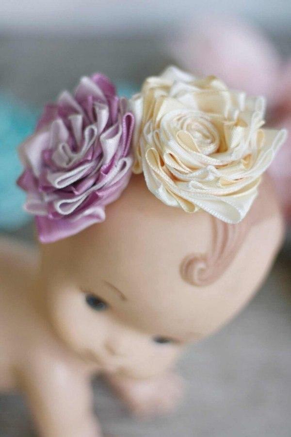 Anna Sophia Fabric Ribbon Flower Tutorial