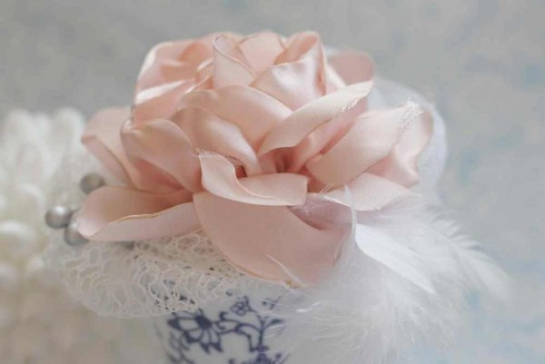 How to make silk fabric flowers for diy wedding bouquets and hair accessories   Layered Cabbage Rose Tutorial