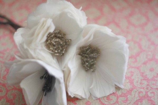 Create flowers from feathers | Poppy Flower Tutorial