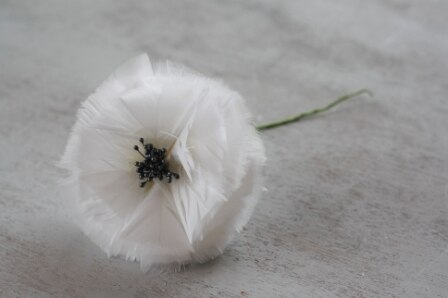 how to make feather flowers for wedding bouquets