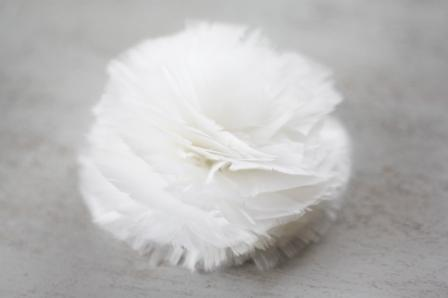 How to make a feather flower carnation for wedding accessories