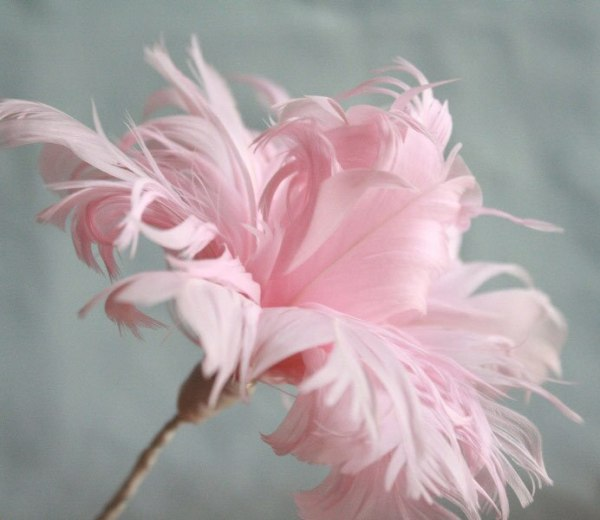 This feather flower will teach you how to make flowers without hot glue.