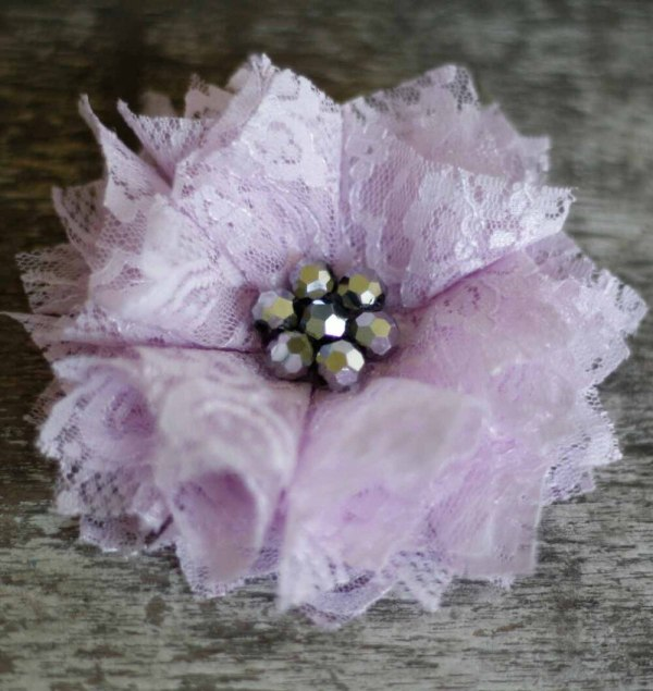 A Lace Fabric Flower using the Carnation Tutorial