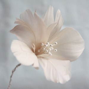 How to make a five petal feather flower tutorial