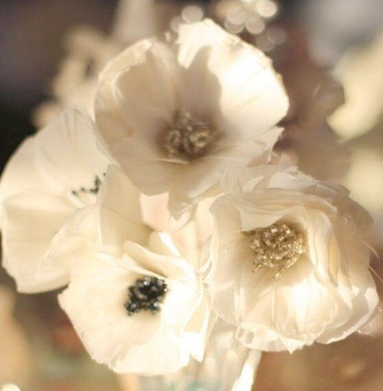 Beautiful feather flowers from Poppy Flower Tutorial