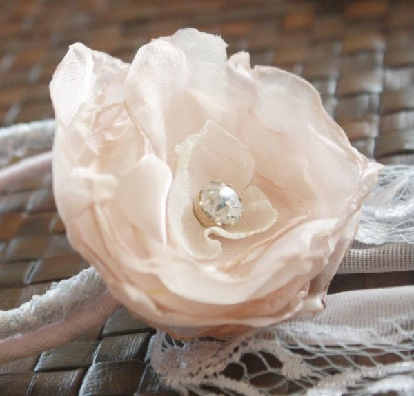 DIY Fabric Flower Bracelet with the help of Fluffy Cabbage Rose Fabric flower Tutorial