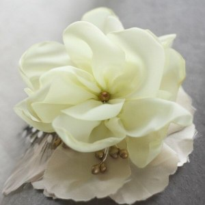 How to make this lush fabric flower for DIY Wedding accessories and photo props.