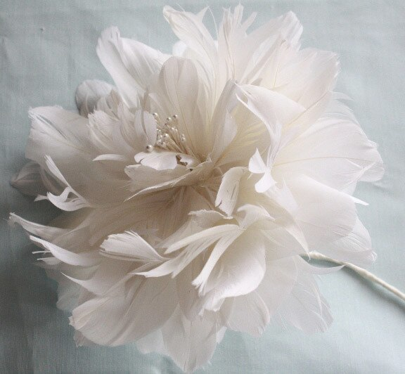 How to Make a Feather Peony Flower Tutorial for DIY Wedding bouquets and hair accessories