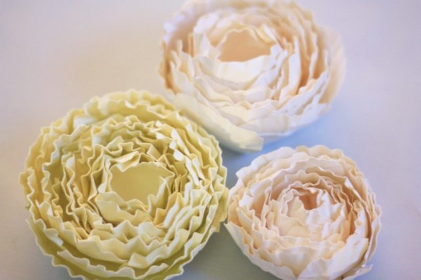 How to make paper flowers with Ranunculus Rose Fabric and Paper Flower Tutorial