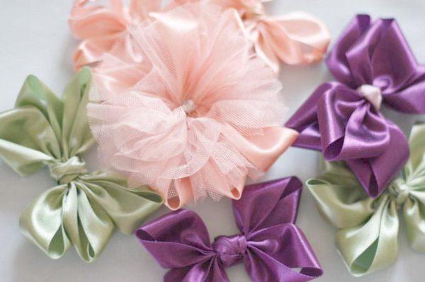 Hair bows from Lucia Hair Bow tutorial