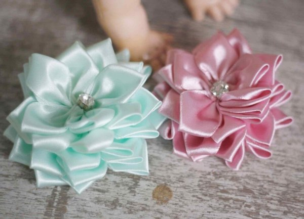 Cute Baby Clips | Sweet Blossom Ribbon Fabric Flower Tutorial