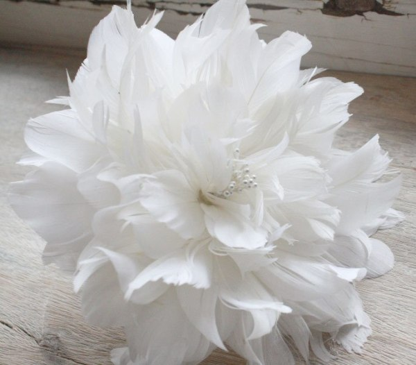 Feather Flower Tutorial | Peony for making diy bouquets and wedding accessories
