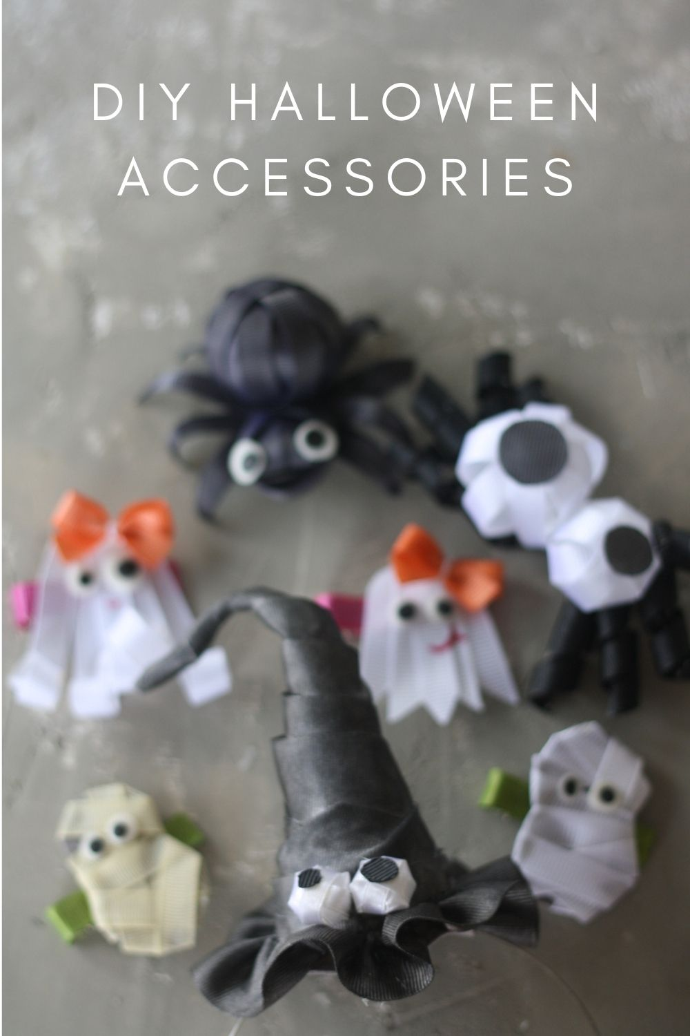HOW TO MAKE HALLOWEEN ACCESSORIES FROM RIBBONS