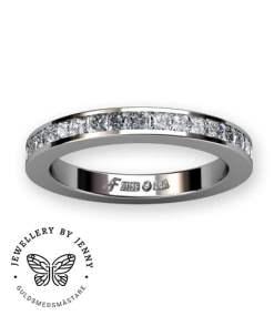 alliansring vitguld prinsesslipade diamanter