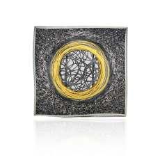 orro Gill-Galloway-Whitehead-Gold-Circle-Brooch