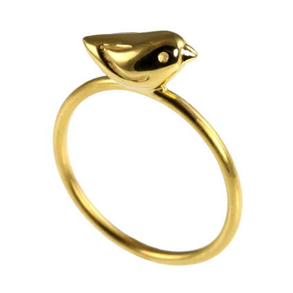 Gold Small Sparrow Ring