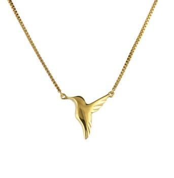 Jana Reinhardt Small Gold Hummingbird Necklace small-hb-nl-gp