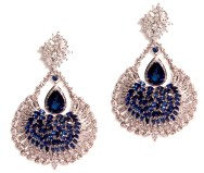 Dillano earrings , material used- diamonds and blue saphire price-410000