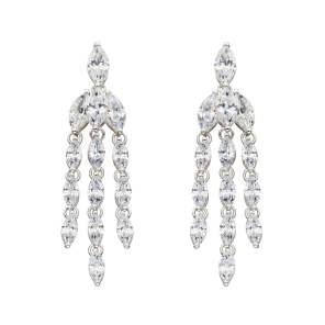 three string drop earrings