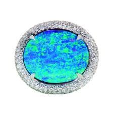 7.71 ct. Gem Australian Boulder Opal Ring by Jeffrey Bilgore