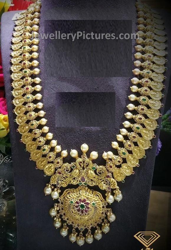 Antique Uncut Kasulaperu In Peacock Design Jewellery Designs