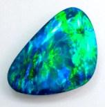 green blue opal