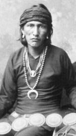 navajo man history of earrings