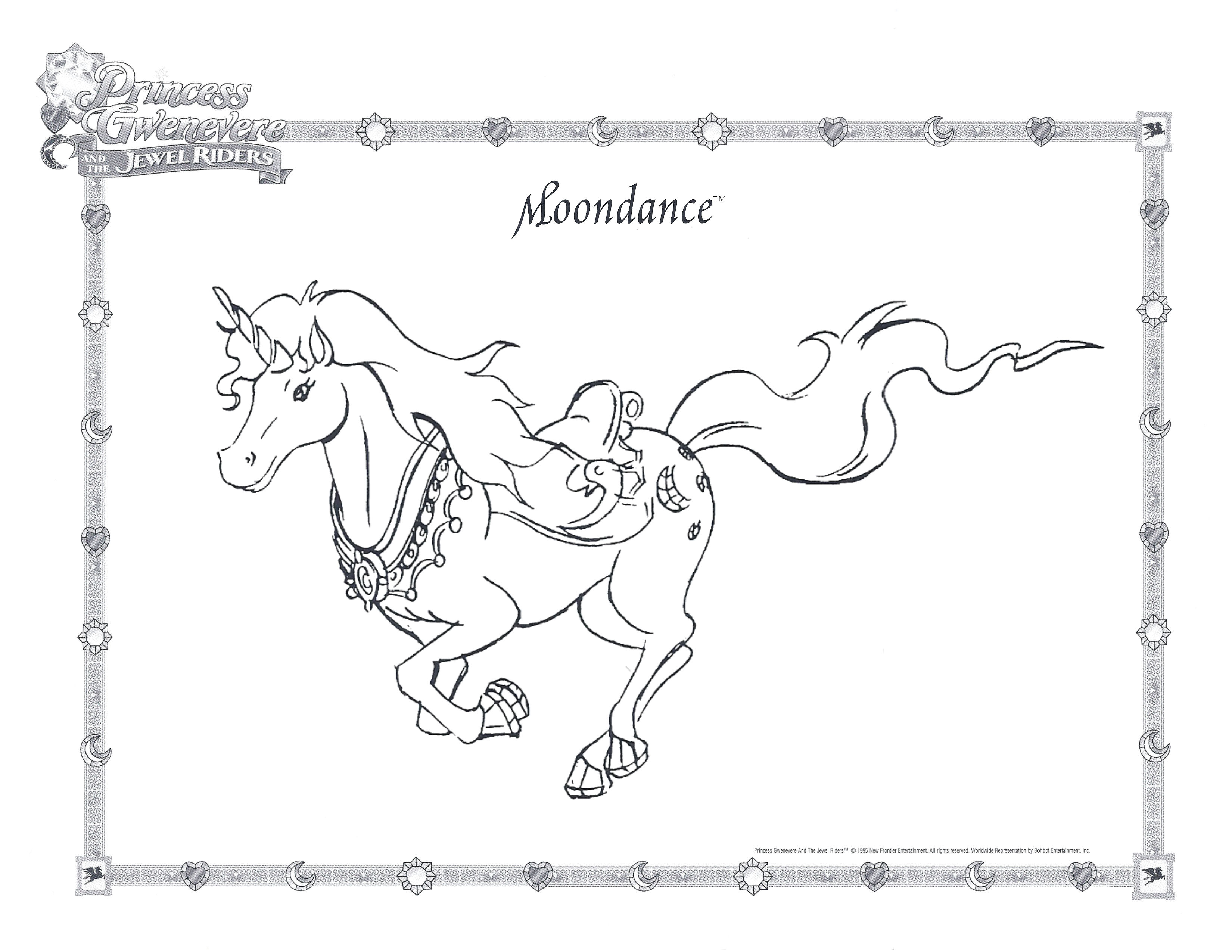 Coloring Pages The Jewel Riders Archive