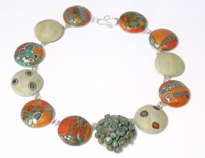 Golden Polymer Clay Beads