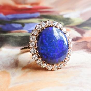 Bluebird 618ct Tw Victorian Influenced Antique Black