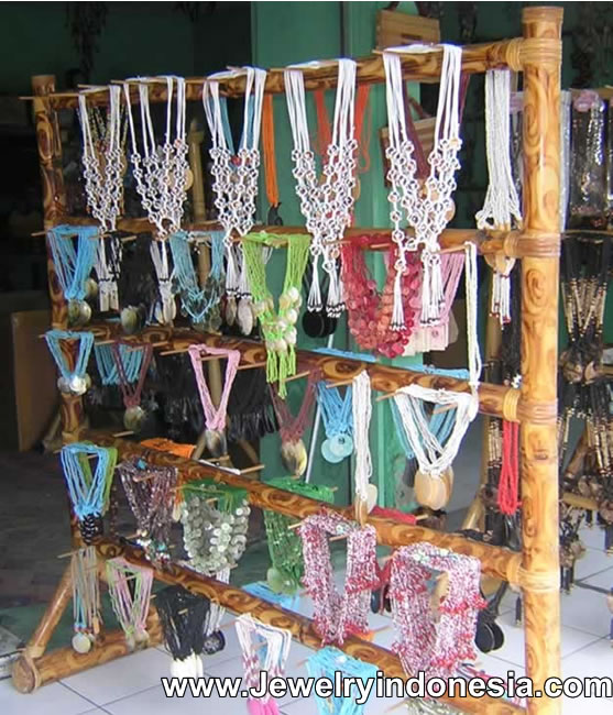 Bamboo Jewelry Displays Bali Indonesia Necklace Holders