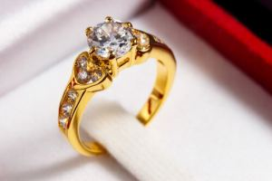 Setting of the engagement ring
