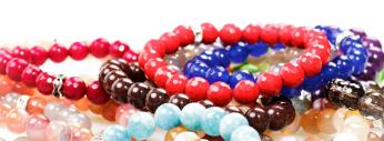 Blue and red agate bracelets