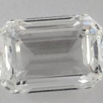 Emerald shape diamond windowing effect
