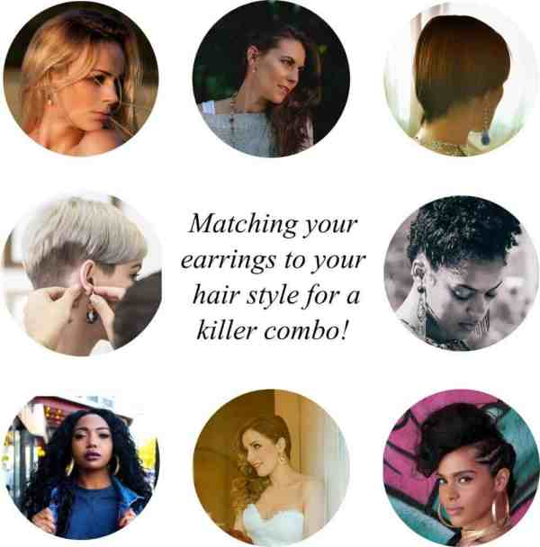 How to match your earrings to your hair style