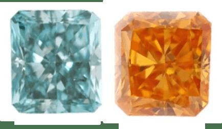 Radiant cut diamond color