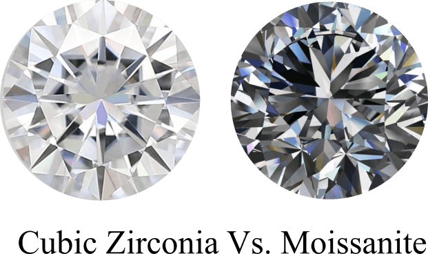 Moissanite Vs Cubic Zirconia Side By Side Jewelry Guide