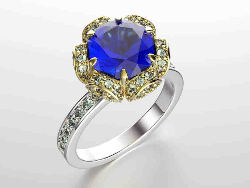 diamond sapphire ceylon ring srilanka star watch blue gold size big real certified natural