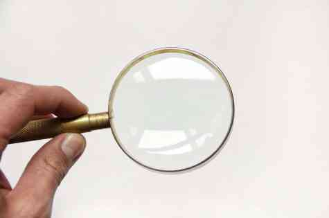 magnifying glass check
