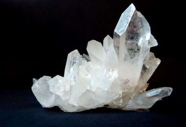 Colorless and white crystal