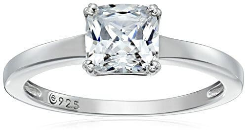 b diamond cz mm ct set channel zirconia cubic jewelry copper ring sterling product silver