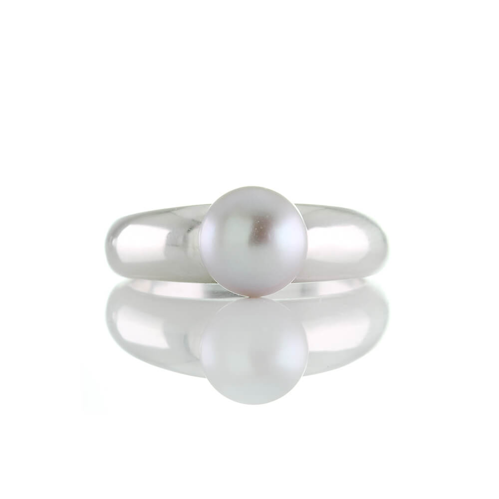 925 real plata rhodiniert *** perla gris remolque con circonita