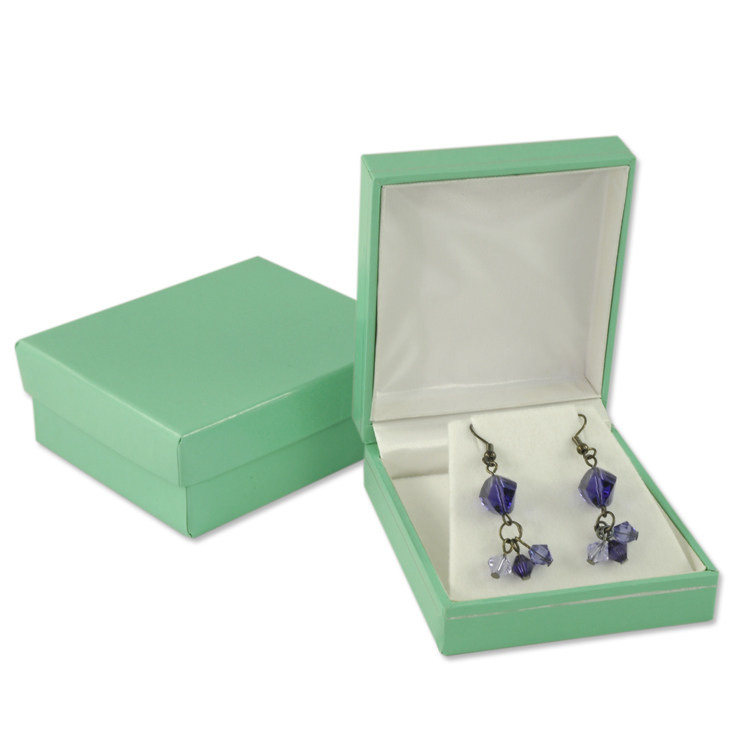 Tiffany Blue Color Jewelry Box For Earrings Or Pendant