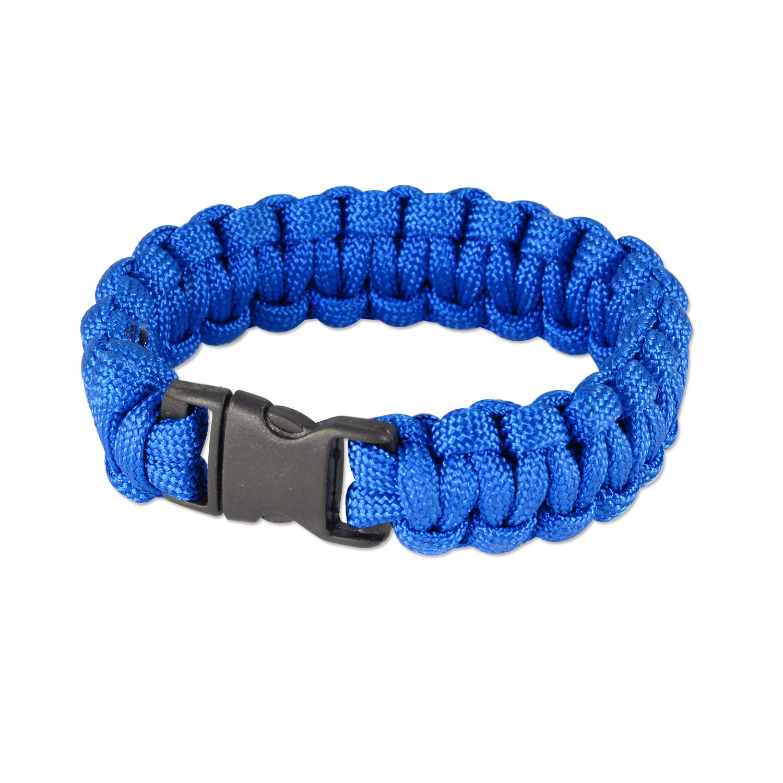 7 Solid Color Paracord Bracelet 7x34 Royal Blue 1 Pc