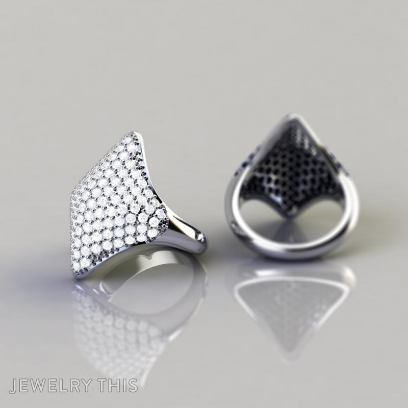 3D Jewelry Design Pave With Hexagonal Backholes Jewelrythis