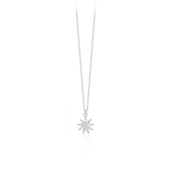 girocollo argento con zirconi
