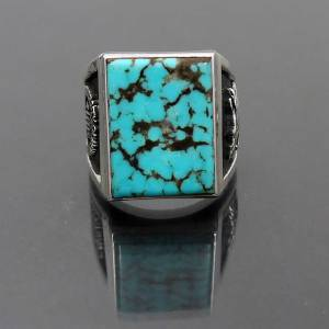Sterling Silver Turquoise Ring, New Mexico Lobos